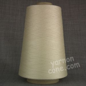 Pure silk cobweb yarn 2/120 NM italian 2/120NM on cone weaving knitting ivory cream ecru