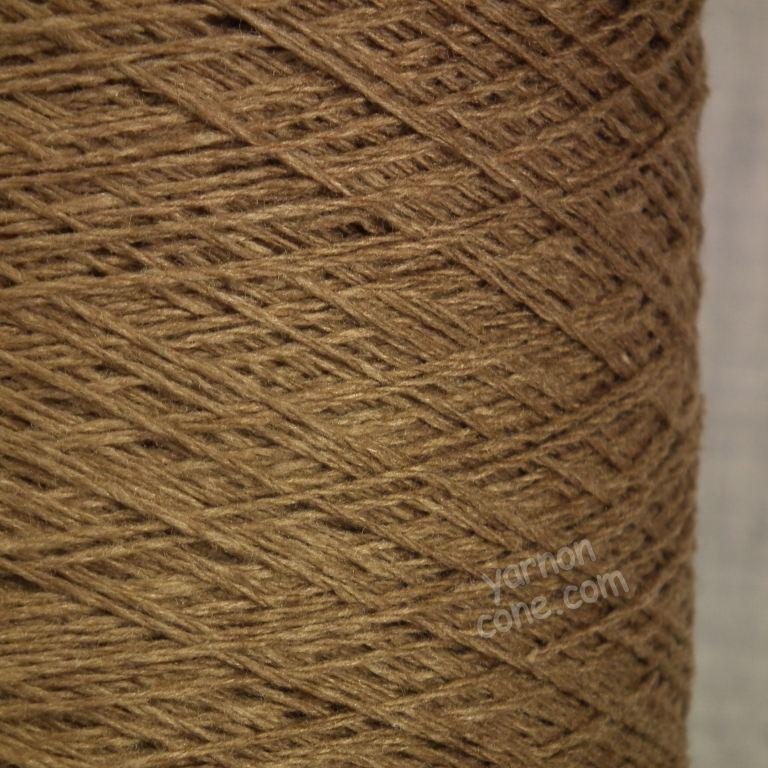 wool silk yarn on cone 3 ply for hand knitting machine knitting weaving UK supplier brown