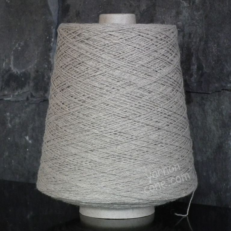 Linen cotton blend yarn undyed ecru weaving twist yarn on cone warp weft rustic style texture uk supplier
