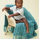 Bernat Hairpin Lace Baby Blanket Yarnspirations