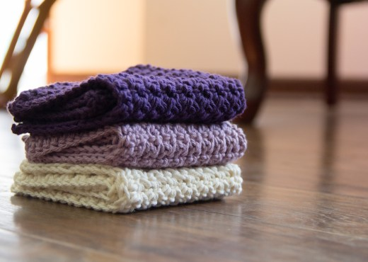 Violet-Lilac Washcloths - Yarn Tale Collective