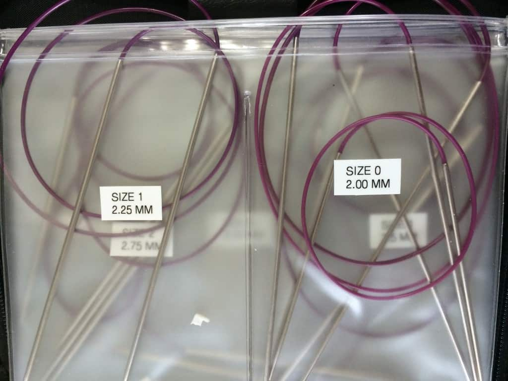 US size 3 and smaller aren't available as interchangeables and are the only needles I have as fixed circulars.