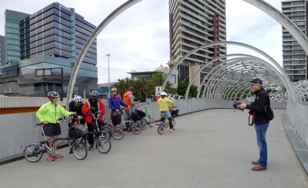 first-group-photo-on-webb-bridge-docklands-melbourne-brompton-club-31-may-2015