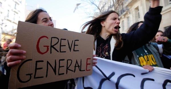 fransa grev protesto