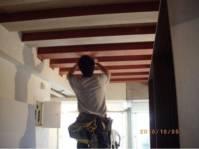 室內裝潢-走道格柵式天花