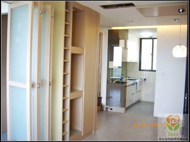 木工裝潢-玄關雙面鞋櫃