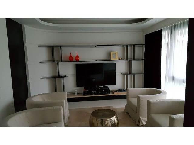 室內裝潢電視牆造型層板
