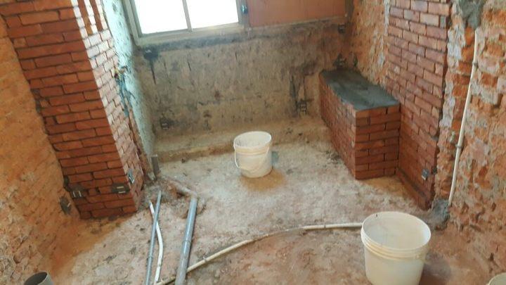 浴室砌磚工程