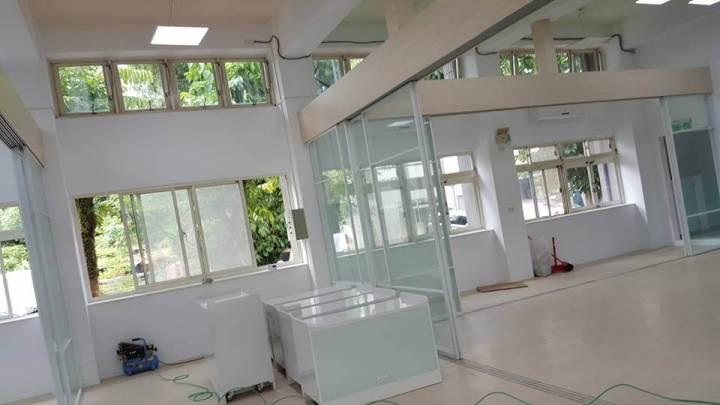 幼稚園裝修工程,木工裝潢全部採用發泡板