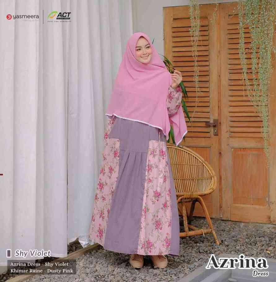 gamis yasmeera azrina dress shy violet