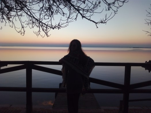 Sunset in Albufera lake