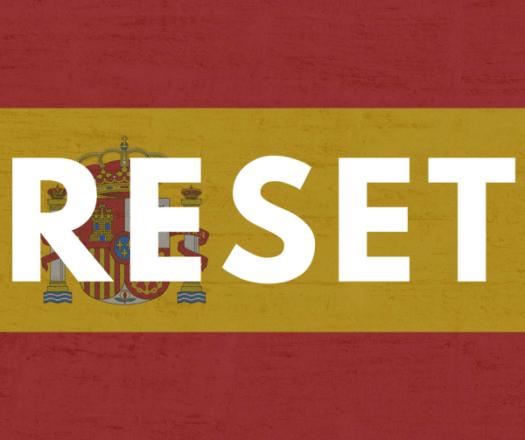 Reset España bandera
