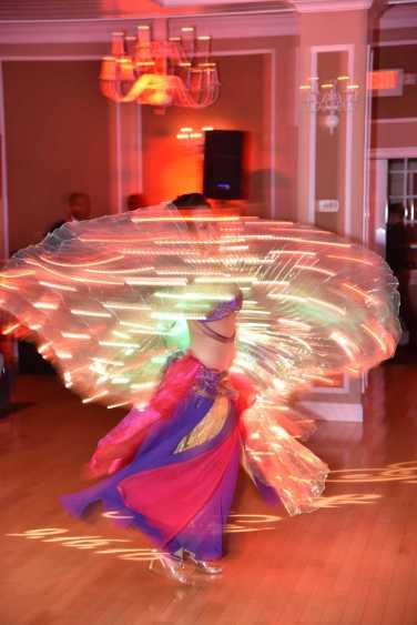 Yasmine Dancing in a Swirl of Light