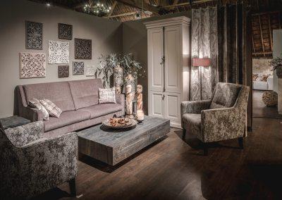 Rustieke inrichting voor showroom meubilair