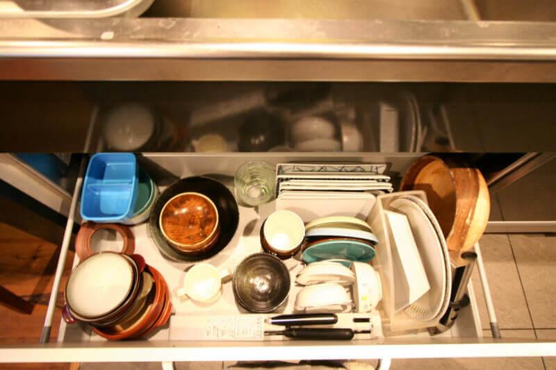 キッチンの食器スペース