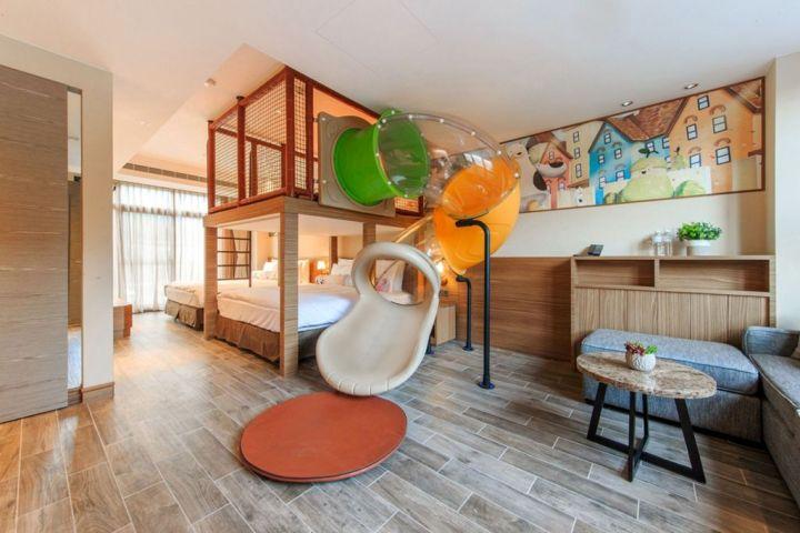 瑞穗天合國際觀光酒店推出親子溜滑梯房 四天三夜享一晚免費  讓孩子在房內安心放電享受親子好時光 @YA !野旅行-吃喝玩樂全都錄