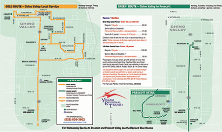 Green and gold routes