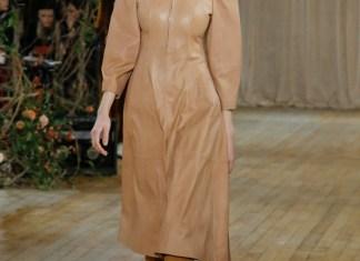 Кожаные платья 2018 (12 фото)