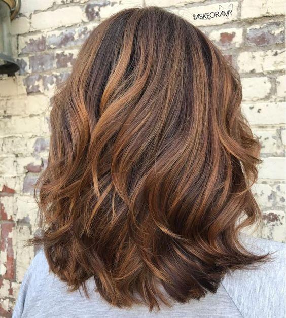 Haircut cascade for long hair women 40 years old