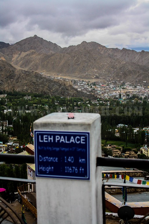 Distance to Leh Palace