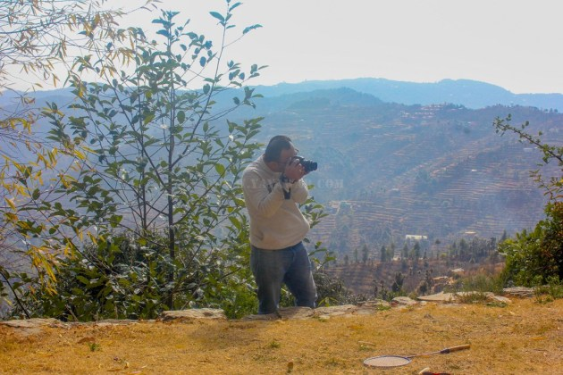 Captured Dheeraj capturing something...