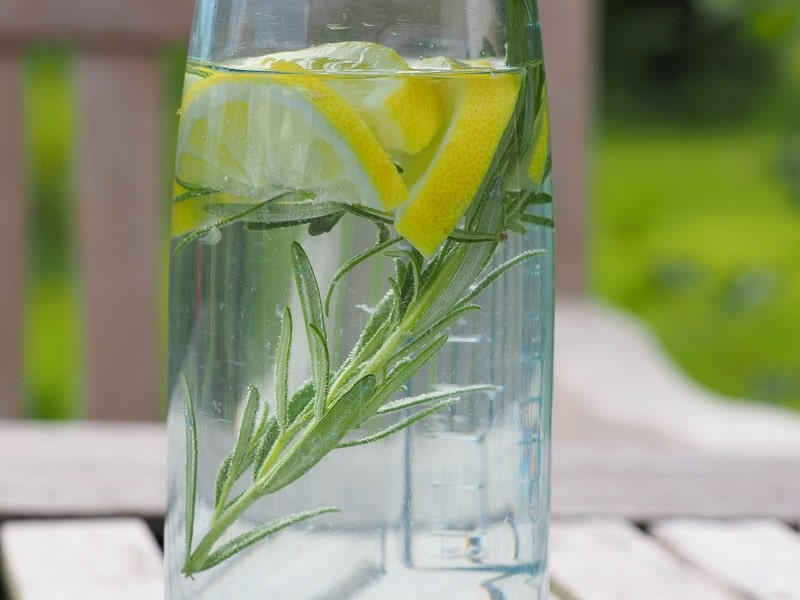 Infused Water Zitrone Rosmarin