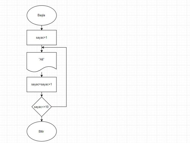 Algoritma Örnekleri -Akış Şeması Örnekleri 3