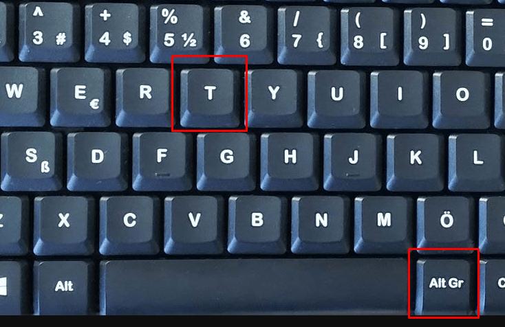 tl simgesi ekleme klavyeden