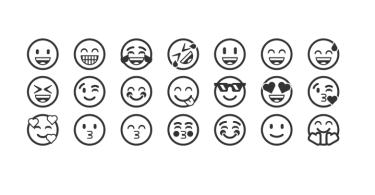 gülen yüz emojileri