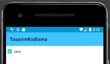Android CheckBox Kullanımı