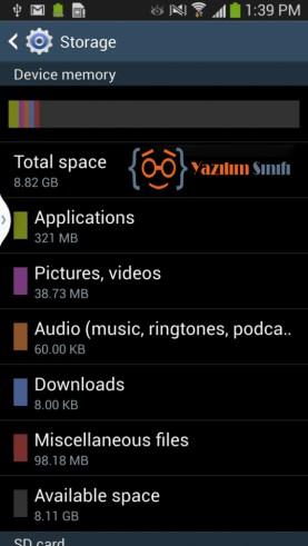 Samsung S4 Hafıza