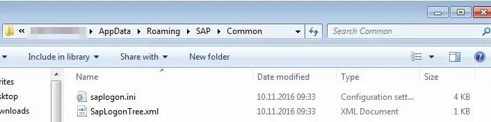 SAP Logon server list find and change the SAPlogon.ini : SAP saplogon.ini configuration file in explorer