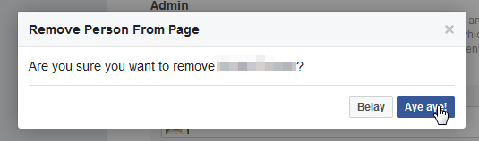Facebook Page - how to change the Page owner : Confirm removing former administrator