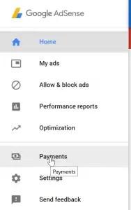 change Google AdSense payment threshold