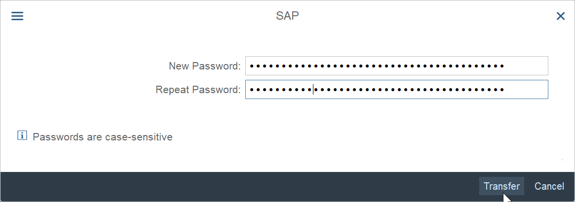 How to reset and change SAP password?