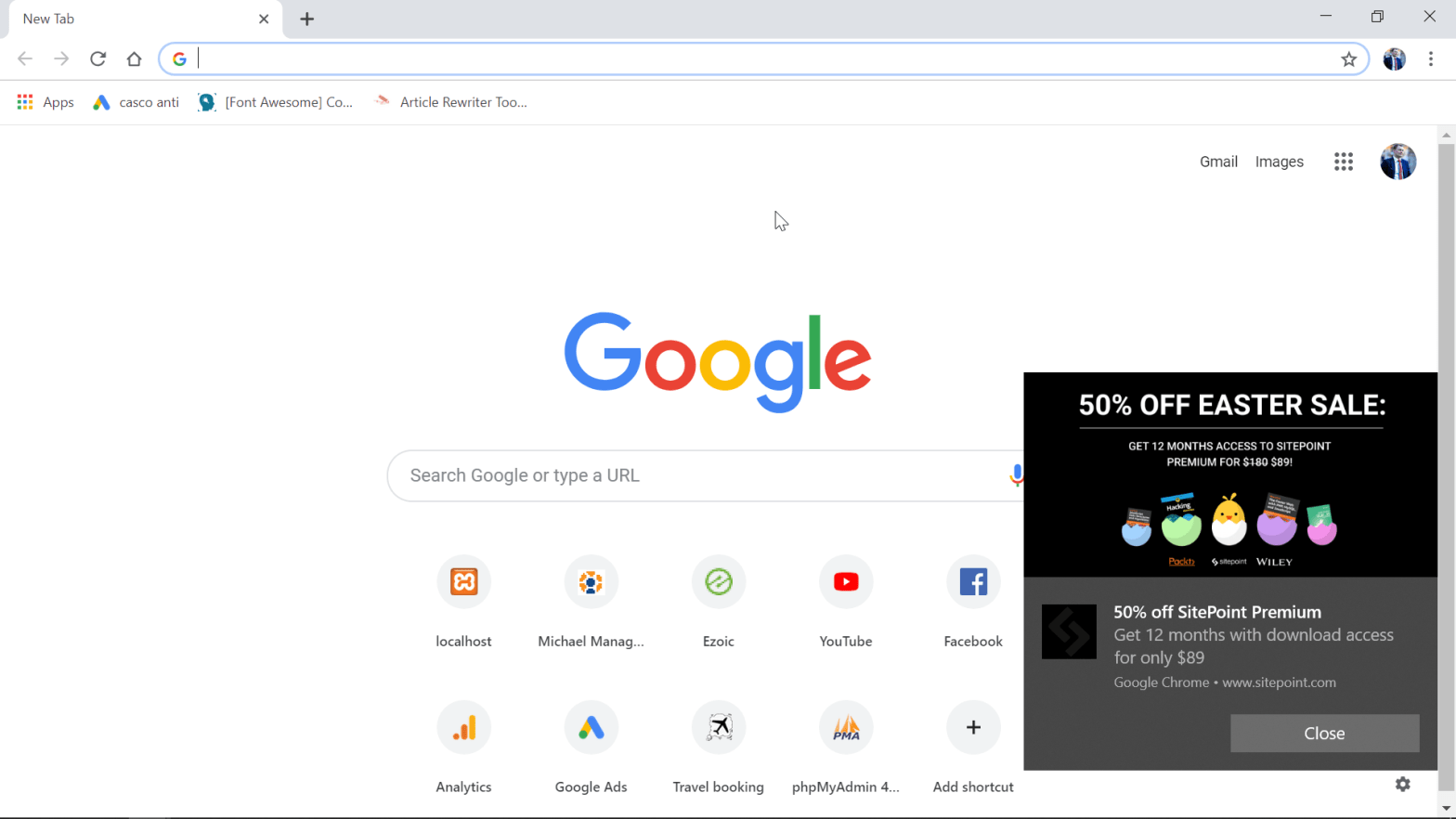 How to turn off Chrome notifications on Windows10?