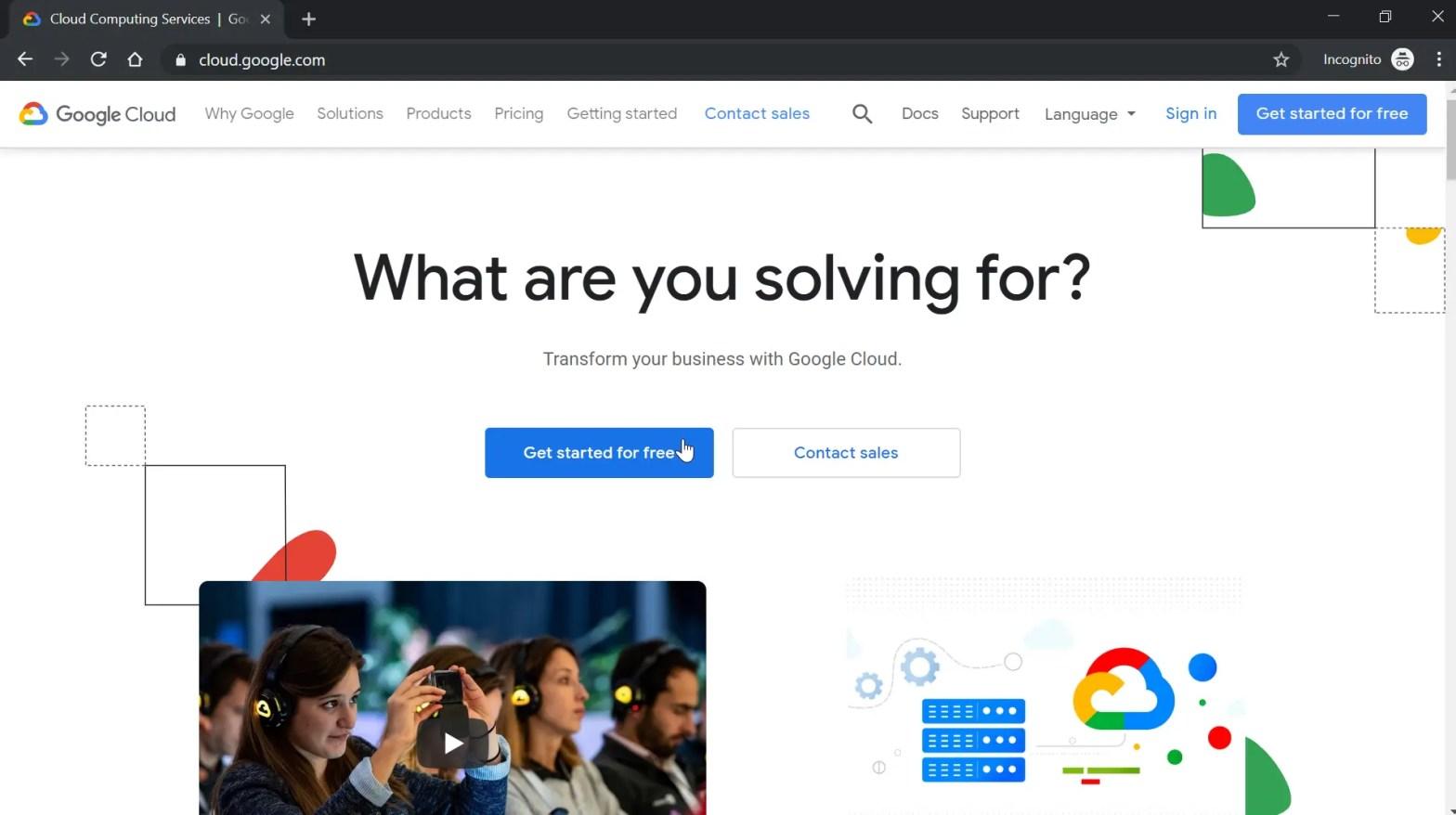 How to create a Google Cloud account?