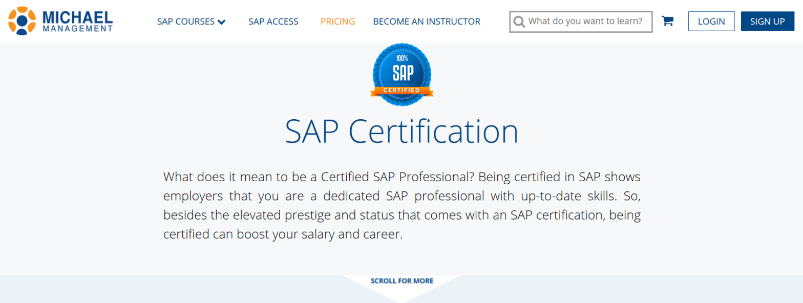 How to get an SAP professional certification online?