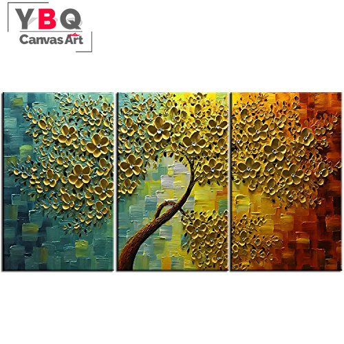 three piece painting large ready to