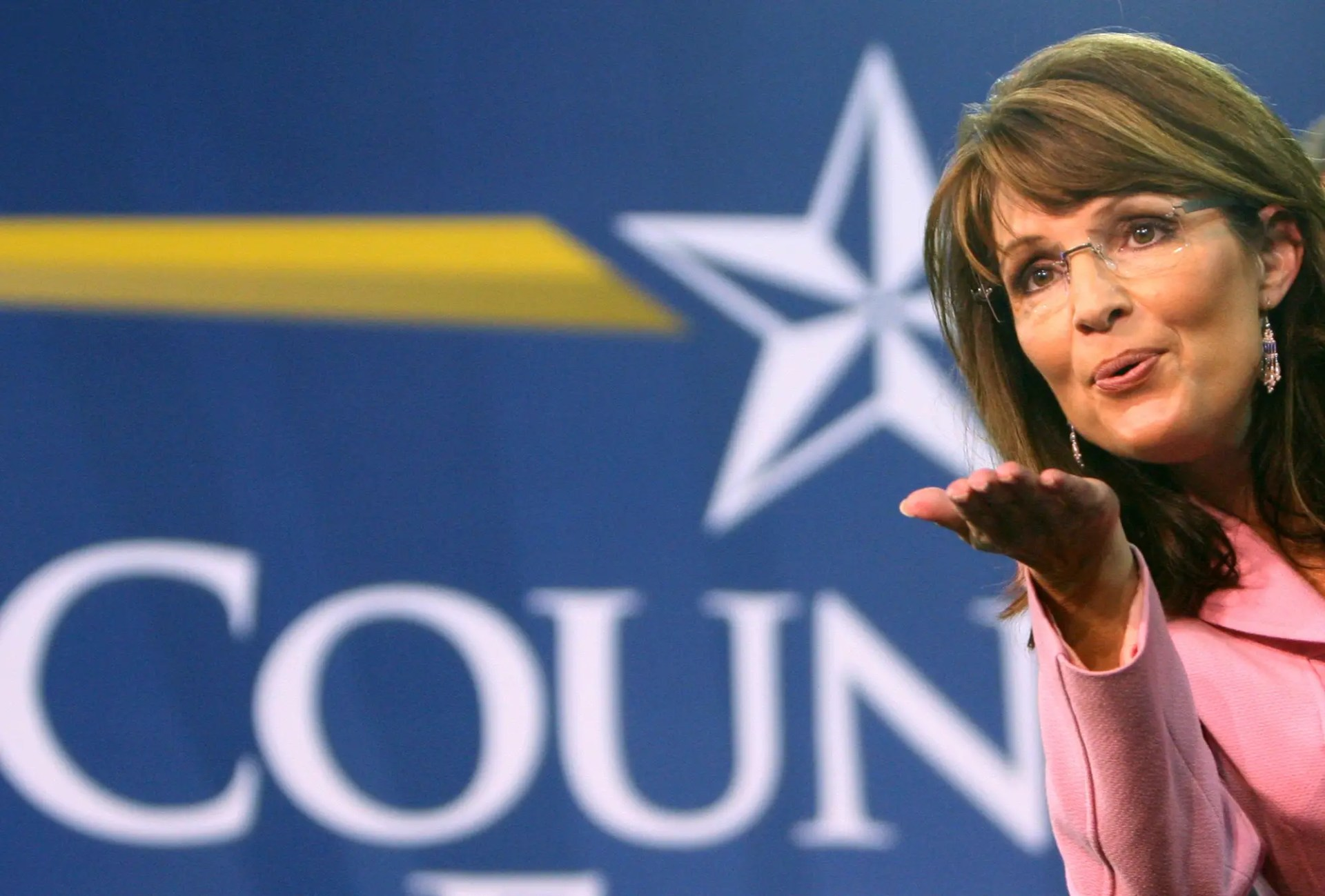 Alaska Gov. Sarah Palin blows a kiss in Kissimmee, Fla., during a campaign stop in October 2008. (File Associated Press / The Spokesman-Review)