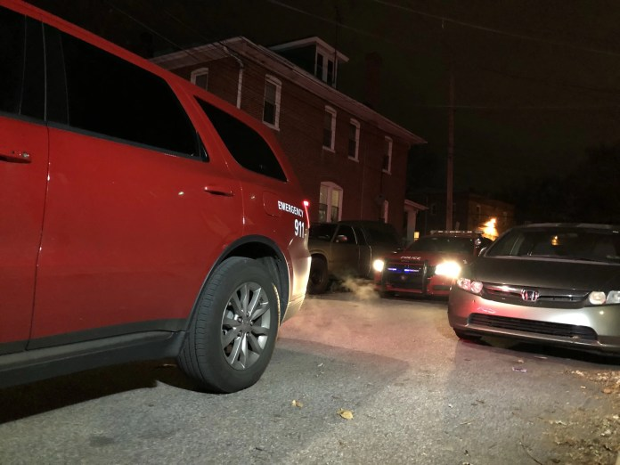 Ridley Township Police investigating an overnight armed home invasion on the 1300 block of Holland Street in Delaware County, Pa. (YC.NEWS PHOTO/NIK HATZIEFSTATHIOU)