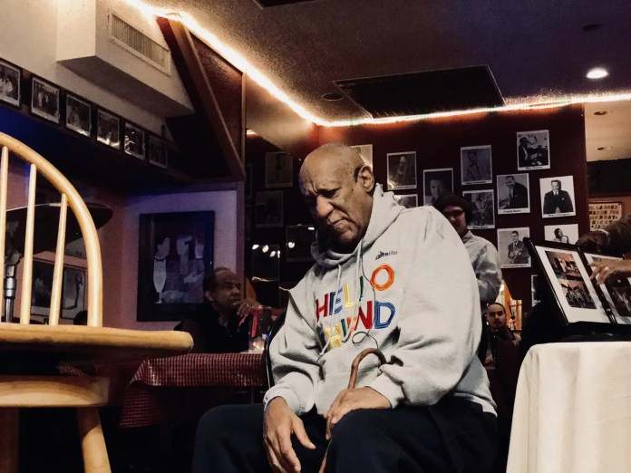 Comedian Bill Cosby returned for a comedy show after nearly three years in Philadelphia Monday night at LaRose Jazz Club. (YC.NEWS PHOTO/NIK HATZIEFSTATHIOU)