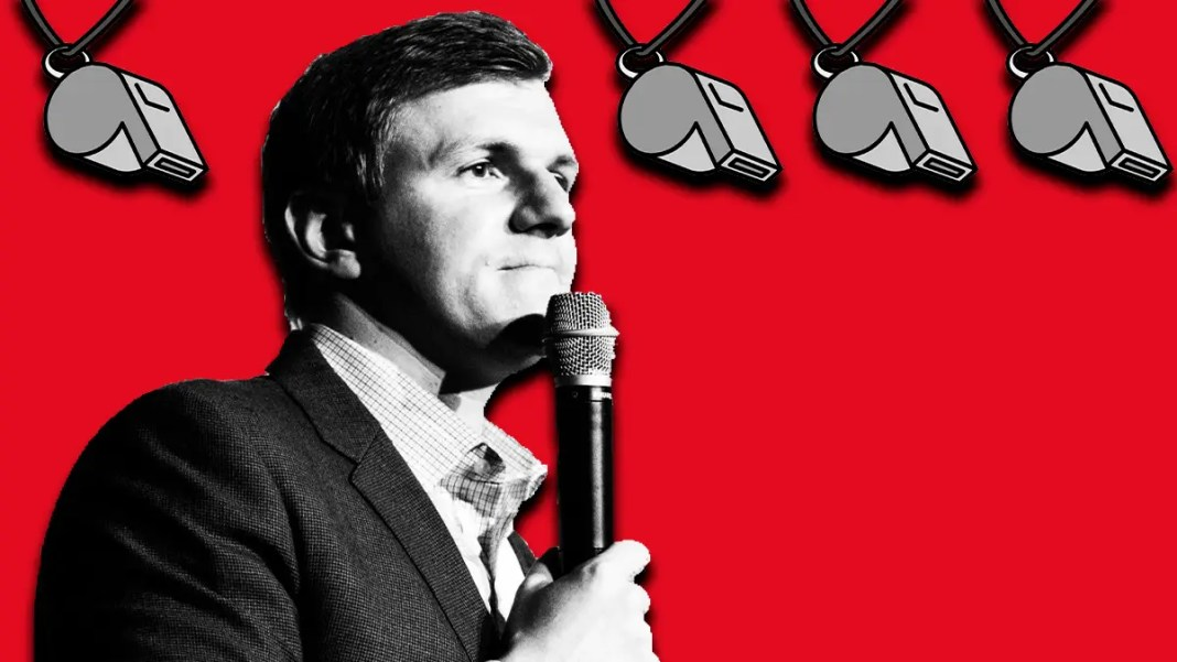 James O'Keefe Challenges Floridians to Blow the Whistle Against Corruption (YC.NEWS Illustration/Recreation)