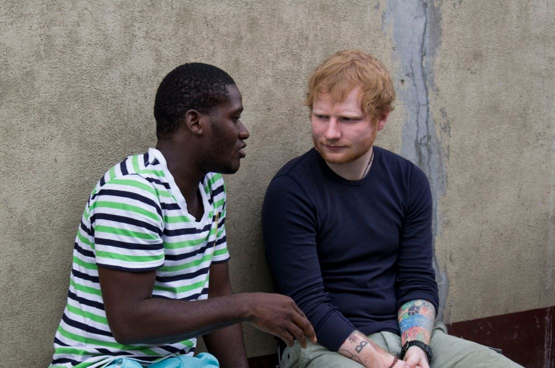 Ed Sheeran and a male beneficiary