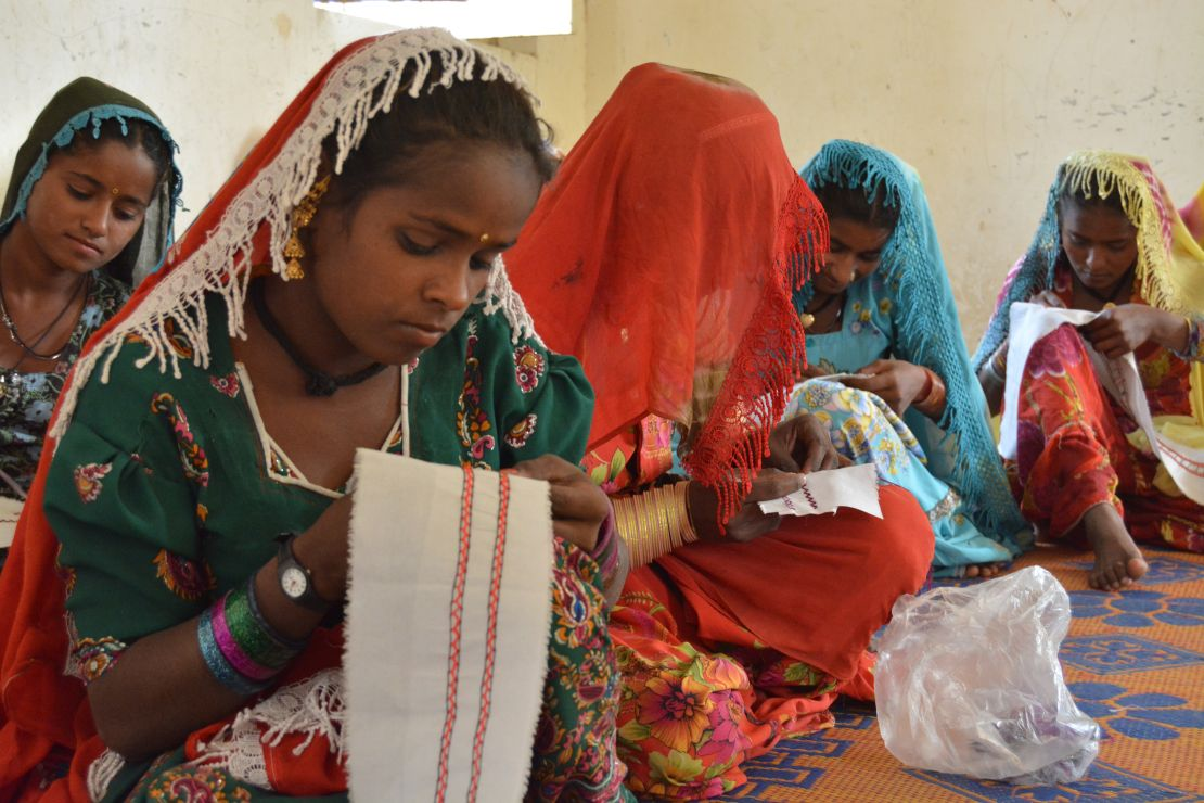 YMCA Pakistan, group of young female seamstresses