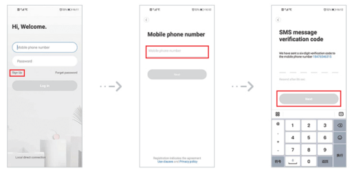 Register user account and log in