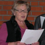 Terttu Magnusson i SPF-kören julen 2012