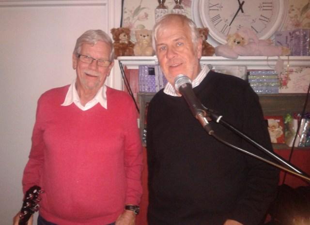Lars Waldefeldt och Sören Eklund underhöll i Nitta 19 oktober
