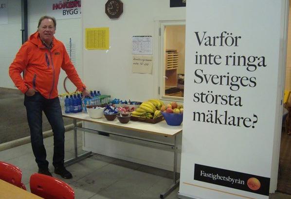 Arne Westman, Fastighetsbyrån, sponsor den 5 mars.