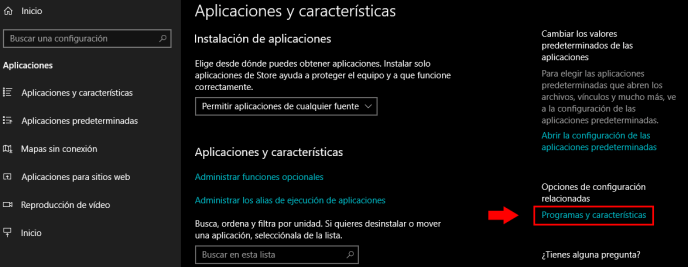 desinstalar programas en windows 10 2019